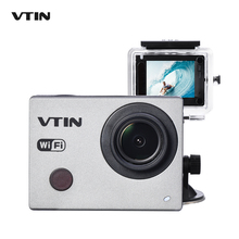 "Original VTIN Action Video Camera 1080P 30fps FHD Waterproof 2.4G WIFI Sports Cam Wrist Remote Control w/ 2"" Screen 2 Batteries"