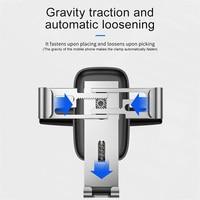 Baseus Car Phone Holder for Car Air Vent / CD Slot Mount Phone Holder Stand for iPhone Samsung Metal Gravity Mobile Phone Holder