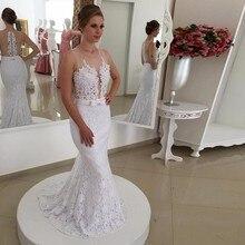 2016 formale abendkleid rock lang mermaid spitze applique perle weißen abendkleid auf die abendkleid SE475 frauen
