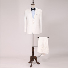 Men's suit, a real ivory cut, a tailored suit (jacket + trousers) for a formal PROM man's professional suit