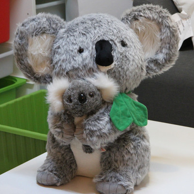 cute gray koala about 45cm toy mom and child koala plush toy , birthday gift x144 about