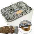 Leopard grain laptop bag sleeve 10 11.6 12 13 13.3 14 15 15.6 notebook handle sleeve case for Macbook smart cover for Lady Girl