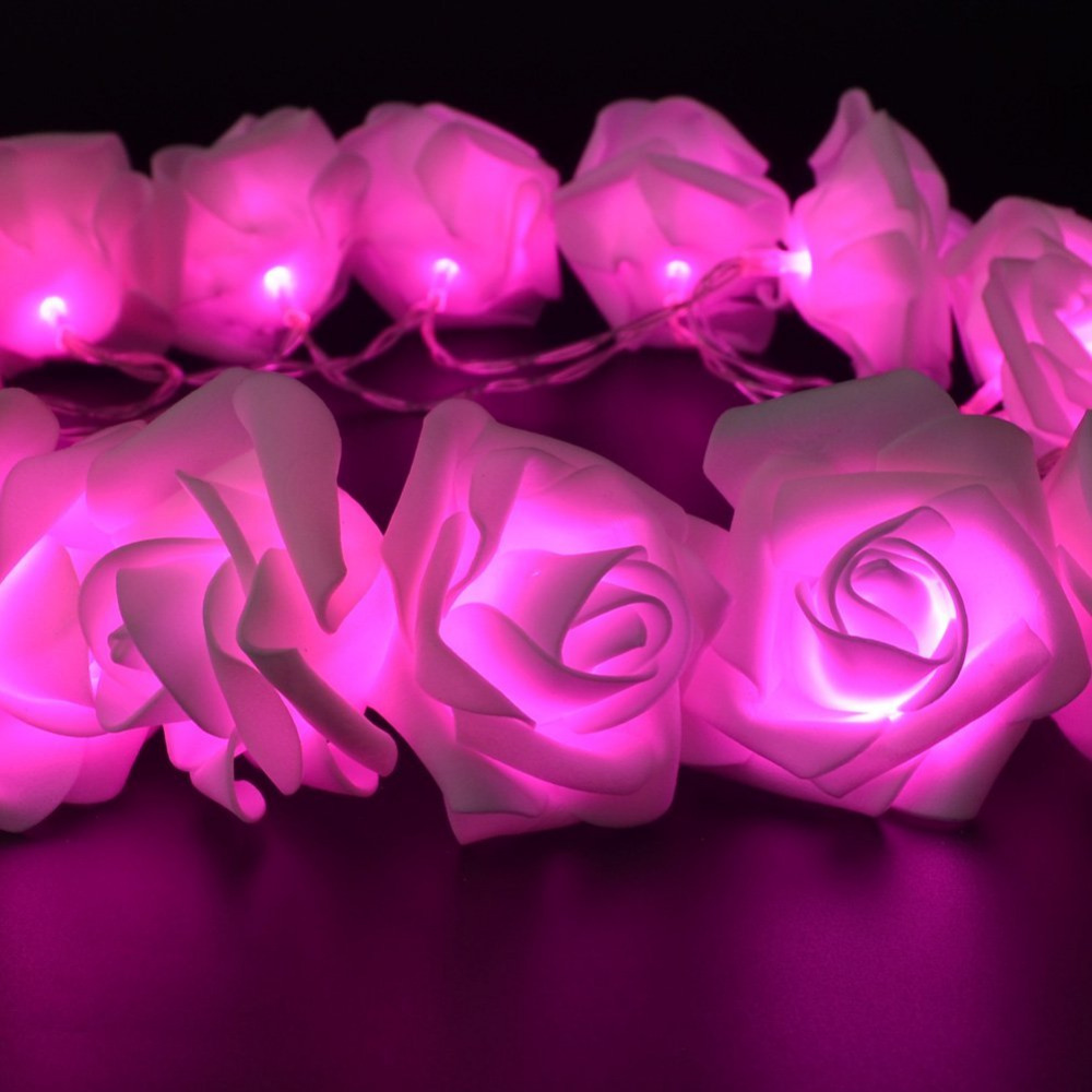 Wholesale 2016 New 20 Led Pink Rose Flower Battery Operated Fairy