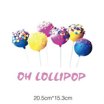 20.5x15cm nowe lollipops naklejki naprasowane zmywalne aplikacje a-level plastry przenikania ciepła na T-shirt akcesoria zrób to sam odzież