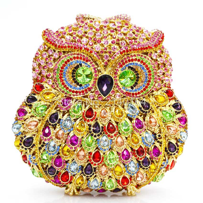 NEW Owl Rhinestones women clutch bags diamonds finger ring evening bags crystal wedding bridal handbags purse bags holder Q43NEW Owl Rhinestones women clutch bags diamonds finger ring evening bags crystal wedding bridal handbags purse bags holder Q43