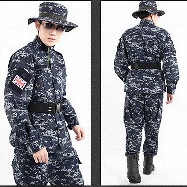 new us camouflage uniform navy military uniform navy digital blue