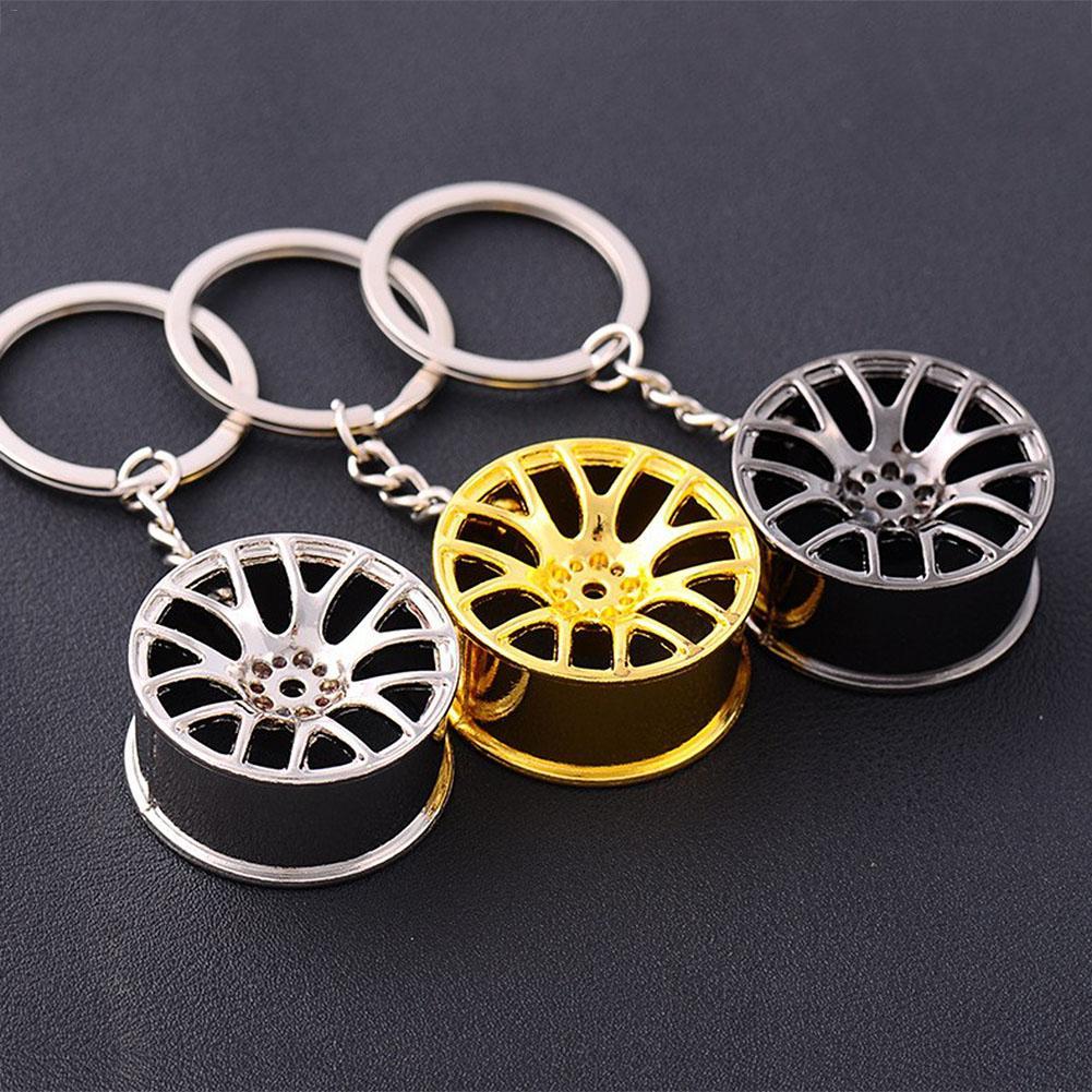 Creative Mini Car Wheel Car Keychain Auto Repair Parts Car Tire Wheel Keychain Key Ring Keychain Ring Car Keychain Accessories