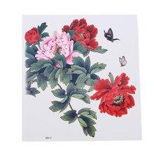 Красная яркая Цветочная наклейка для татуировки Водонепроницаемая Влагоотводящая прочная красивая модель горячая распродажа женский тату Цветок на руку тату наклейка