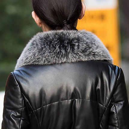 AYUNSUE новые Брендовые куртки женские пальто из натуральной кожи 2019 натуральный Лисий Мех утка вниз овчина куртка Женская Плюс Размер LX921