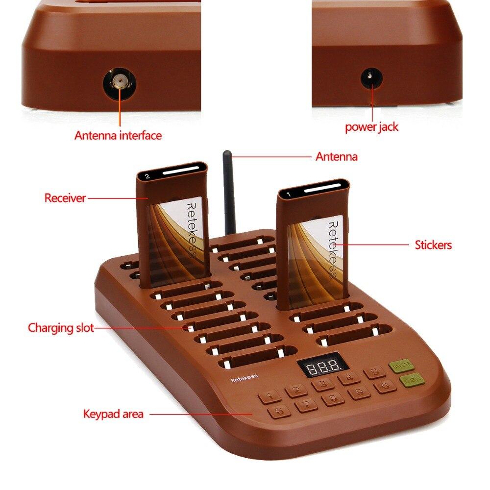Retekess T116 ワイヤレスページングキューイングシステムレストランポケットベル 1 トランスミッタ + 20 コースターポケベル有償レストラン機器  グループ上の パソコン & オフィス からの ポケベル の中 2