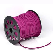 Best Quality 1Roll(95M) Fuchsia Velvet Cord for Necklace Jewelry Making 25x15mm(W00856)