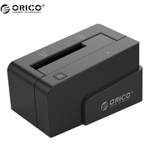 ORICO 6618SUS3 2.5 и 3.5 дюймов SATA2.0 USB3.0 & ESATA внешний жесткий диск док с 12 В Мощность адаптер- черный