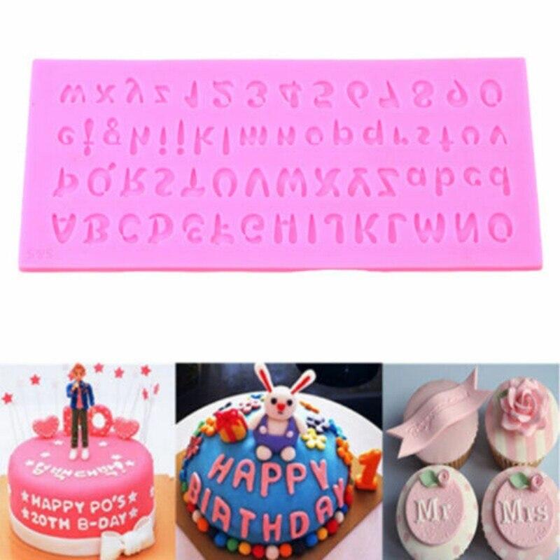 WHISM Siliconen Letter Alfabet Nummer Cake Chocolade Fondant - Keuken, eetkamer en bar