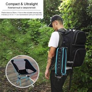 Image 5 - Chaise lunaire pliante Portable, tabouret de Camping allongé, pour barbecue pêche randonnée, mobilier de bureau et de maison, ultraléger, pour le jardin