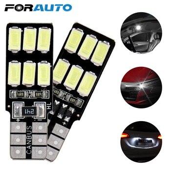 FORAUTO T10 194 W5W Error Free Canbus Car LED Bulbs Reading Light Car-styling 5630 5730 12 SMD DC 12V Auto Interior Light We