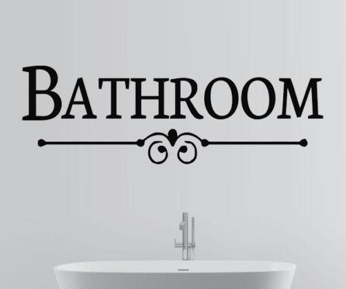 Bathroom Sign Bath Quote Wall Art Stickers Decals Vinyl Decor Room Home