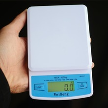1Pc 3000g 3kg 0.1g Electronic LCD Display Mini Digital Jewelry Scale Weighing Scale Weight Scales Balance