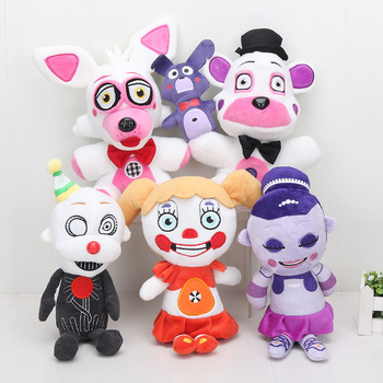 10'' 25cm Sister Location Funtime Freddy Collectible Plush Doll Toy FNAF plushies 1