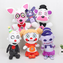 """10"""" 25cm Five Nights at Freddy's Sister Location Funtime Freddy Collectible Plush Doll Toy FNAF plushies"""
