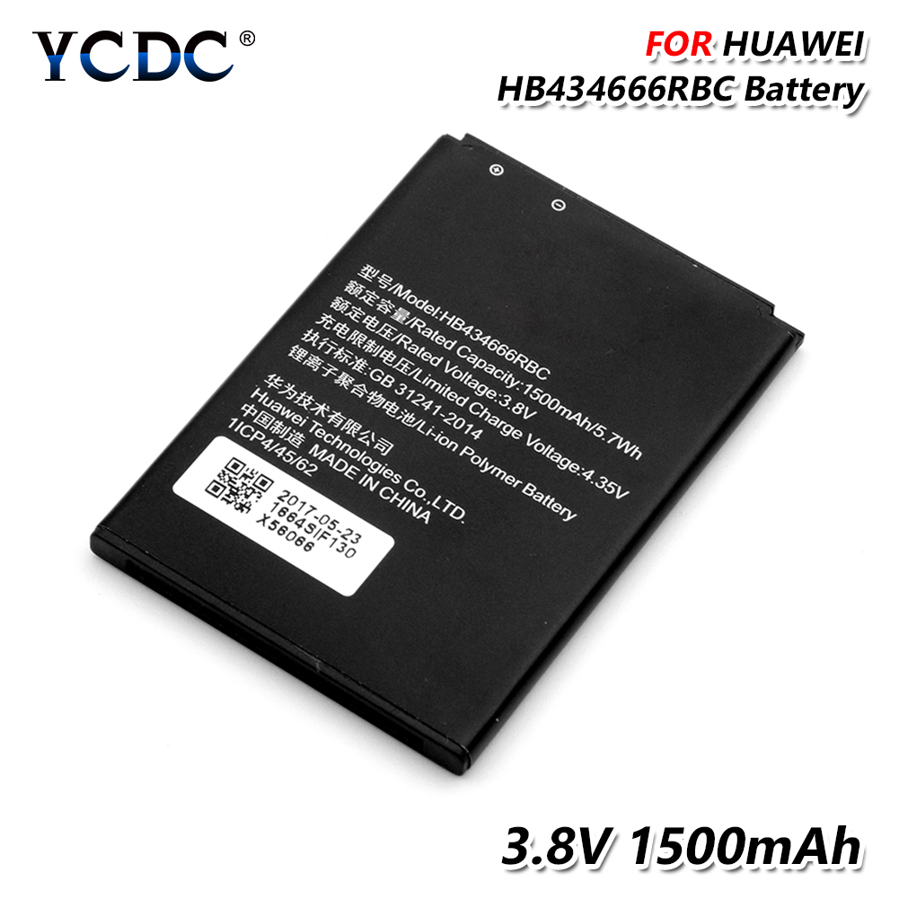 3 8V 1500Mah Battery HB434666RBC For HuaWei E5573S E5573 E5573S-806  E5573S-606 Rechargeable Lithium Battery