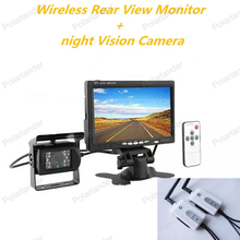 bus RearView Monitor 7 Inch TFT LCD Display Screen truck night vision rearviwe camera wireless receiver transmitter kit