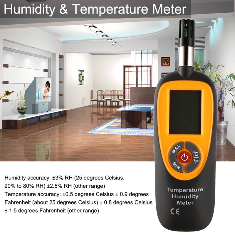Hti HT 96 Mini Humidity & Temperature Meter Dual digital LCD Display Automatic Power off