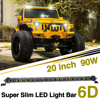CO LIGHT 20 Inch Led Bar Single 6D Cree Chip 90W Combo Slim Light Bar 12v