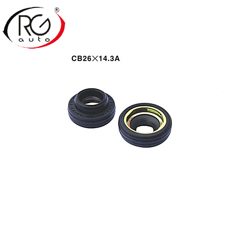 Automotive compressor seal oil seal LIP TYPE with RUBBER MOUNTED shaft seal for Daewoo V5 OEM