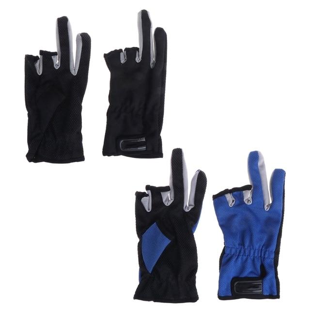Best Price Fishing Gloves 3 Fingerless Slit Outdoor Men Anti Slip Sun Protection Breathable
