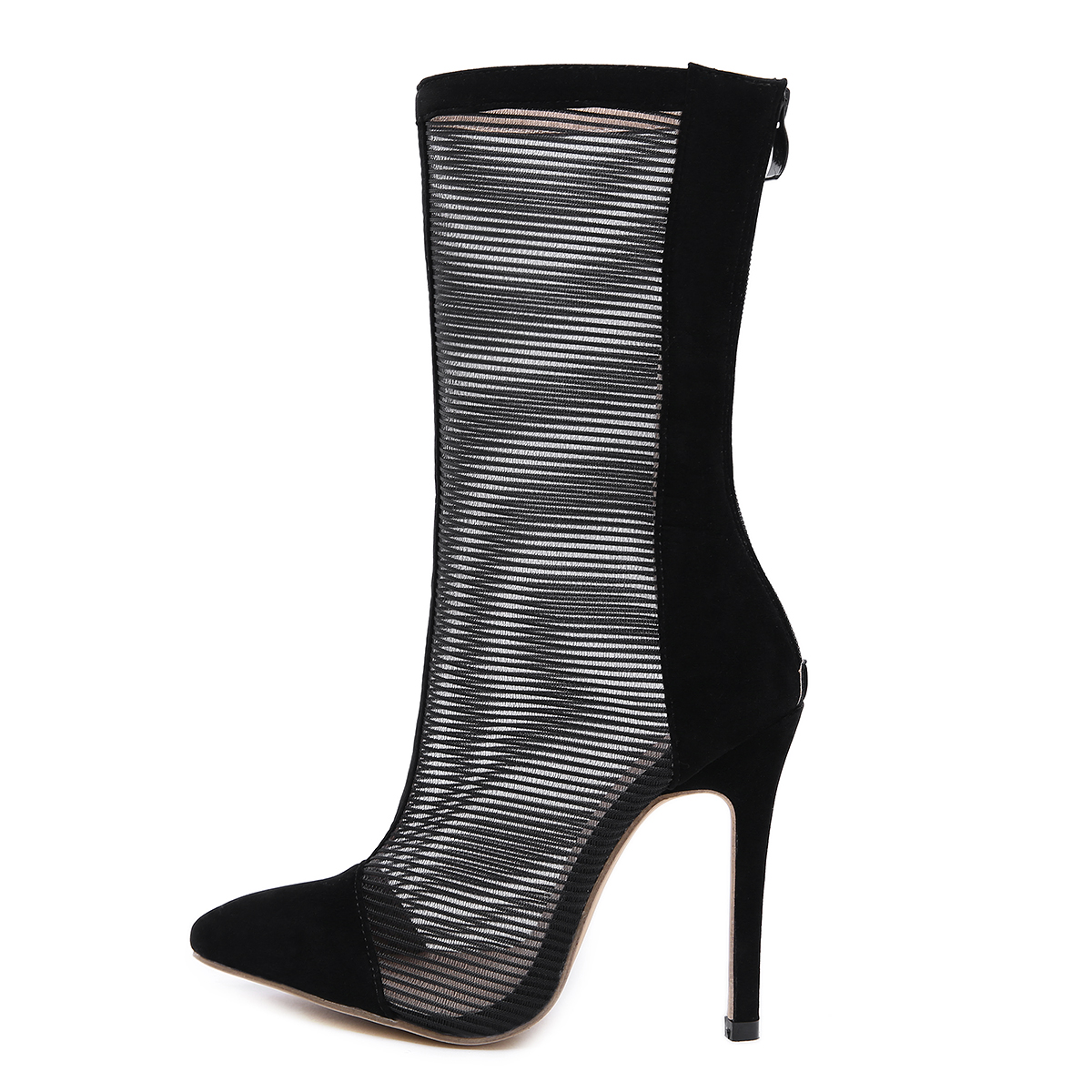 ed9e2d9ef99a ESRFIYFE 2019 New Gladiator Sandals Summer Mesh Mid Calf Boots ...