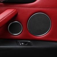 6pcs For BMW X5 F15 F85 2014 2017 & X6 F16 F86 2015 2017 Chrome plate ABS Matte Interior Door Speaker Covers Trim Frame