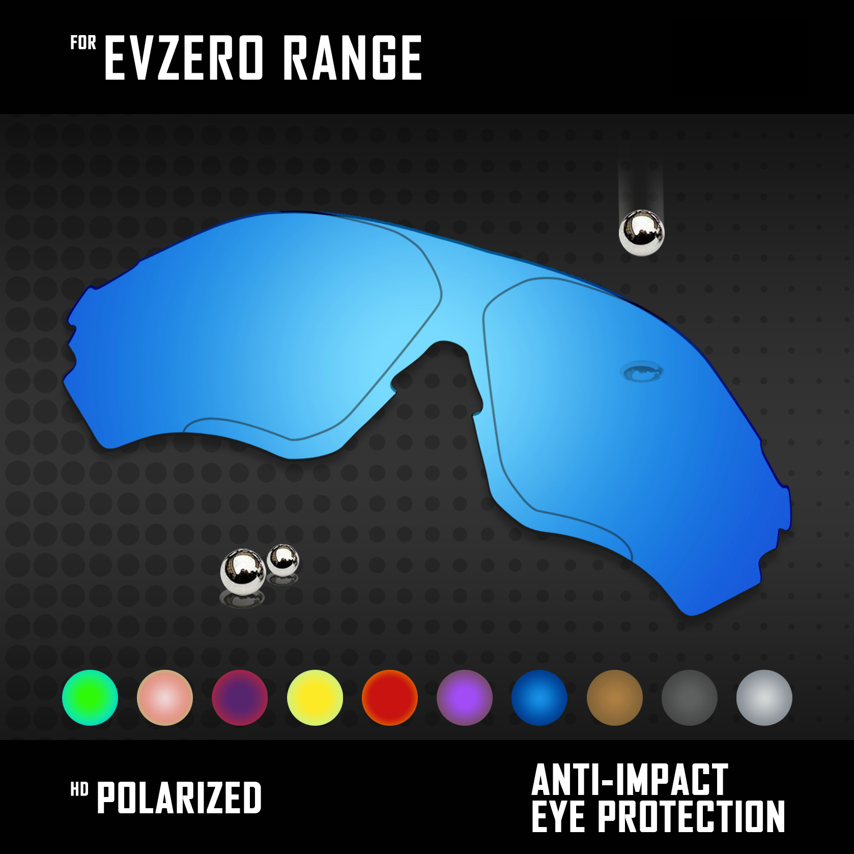 OOWLIT Lenses Replacements For Oakley EVZero Range Sunglasses Polarized - Multi Colors