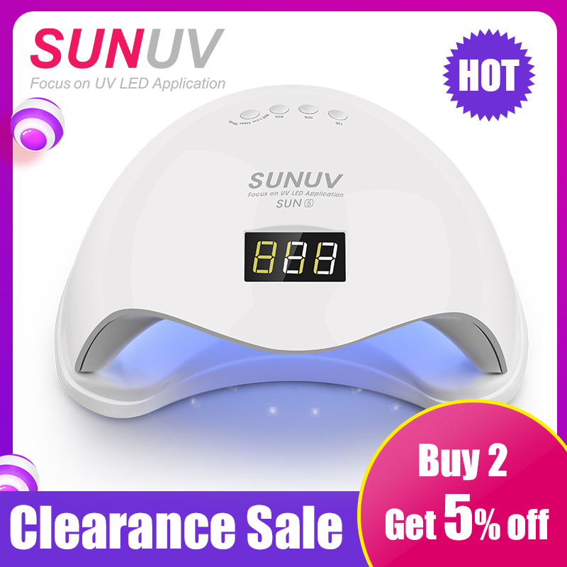 SUNUV SUN5 48 W Dual UV LED Nagel Lampe Nagel Trockner Gel Curing Licht mit Boden 30 s/ 60 s Timer LCD display