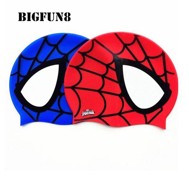 Silicona Niños Elástico caliente de Dibujos Animados Spiderman Impreso Gorro de