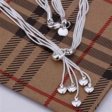 N092 925 Hot Selling silver Necklace 925 silver Pendant fashion jewelry Heart Necklace agiaixpa agmaixta