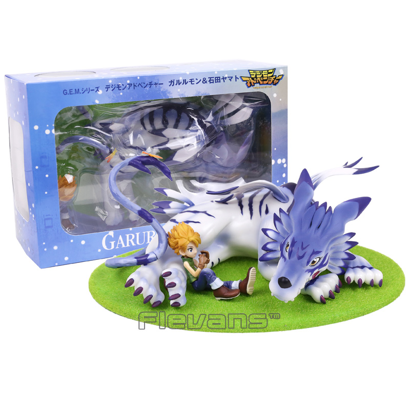 GEM Digimon Adventure Gabumon & Yamato PVC Figure Collectible Model Toy