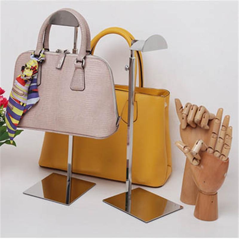 Stainless Handbag Display Rack, Bag Holder Stand adjustable gold metal handbag display rack women handbag bag display stand holder wig hat scarves hook stand bag holder rack