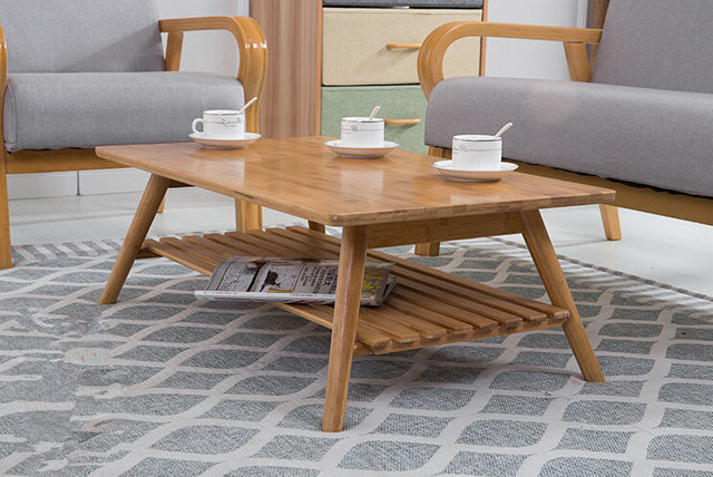 Delicieux Contemporary Bamboo Table Legs Foldable Natural Finish Bamboo Furniture  Small Living Room Folding Table Center Sofa Coffee Table