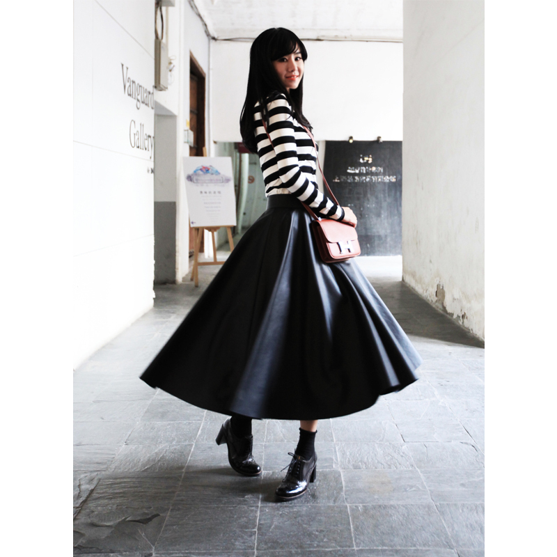 7XL Plus Size Women High Quality Faux Leather Maxi Long Women A ...
