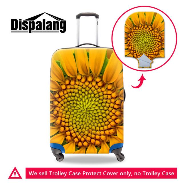 Dispalang flor trecho durável bagagem capa protetora aplicar para 18-30 polegada de bagagem mala de viagem meninas grosso elástico cobre