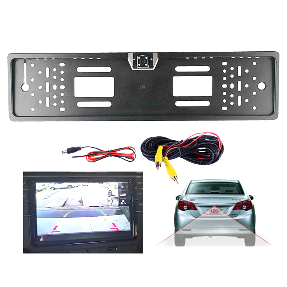 4 LED CCD IR Driving Car Rear View Camera License Plate Frame Reverse Rear View Camera Recorder Night Vision Auto Dash Vision