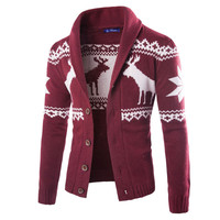 Feitong Sale Limited Full Brand Men S Christmas Sweater 2017 Cardigan Weaters Knitted Long Sleeve Men
