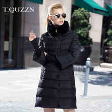 2015 New Hot Winter Thicken Warm Woman Down jacket Coat Parkas Outerwear Rabbit Fur collar Slim Long Plus Size 2XXL Luxury High