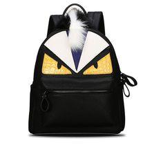 2017 personalidad de la moda mochilas hombres viajan mujeres mochila escolar mochilas escolares para adolescentes cuero Monster mochila F40-643