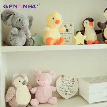 1pc 22cm Cute Animal Plush Toy kawaii Penguin Elephant Pig Chicken Dolls Stuffed Toys for Children Kids Birthday Gift elephant plush