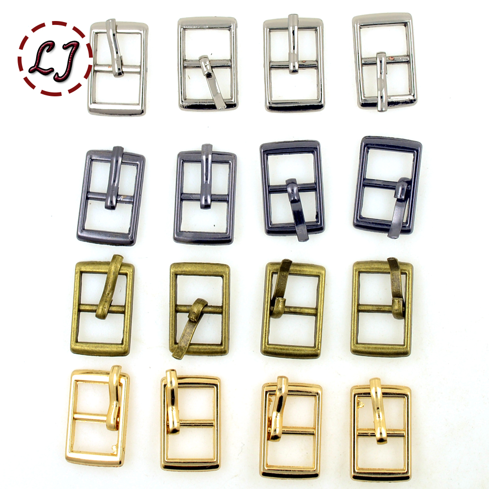 Small buckles for crafts - New Hot Sale 30pcs Lot Silver Gun Black Gold Bronze 8mm Small Square Alloy
