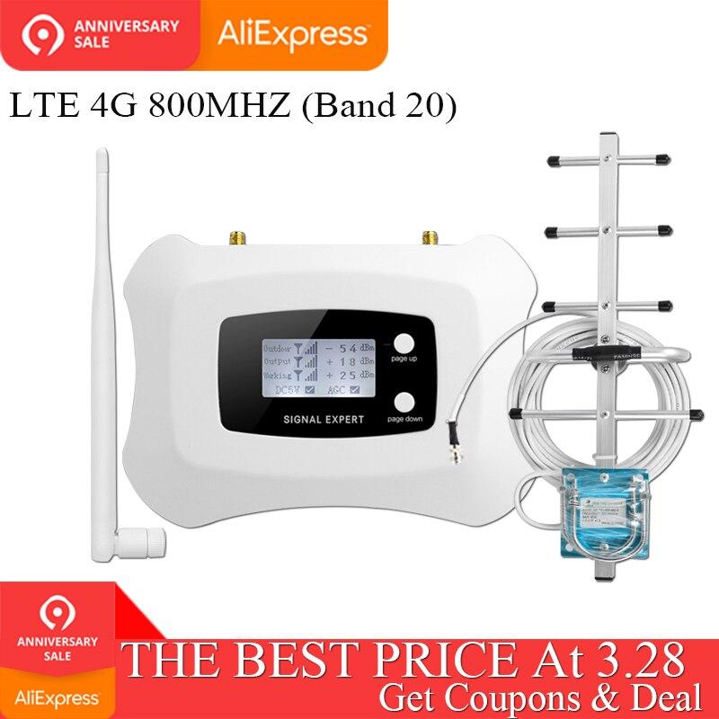ATNJ 70dB Bande 20 4G Amplificateur LTE 800 FDD Europe téléphone portable Signal Booster amplificateur de téléphone Cellulaire 4g lte 800 mhz Répéteur