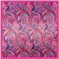 90 cm * 90 cm Nueva Bufanda Bohemia de la flor de la selva dama bufanda cuadrada grande de la toalla