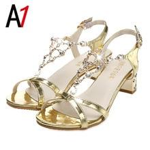 Gold sandals women shoes summer non-slip bottom slippers women sales sexy high heels sandals shoes fashion classic flip flops