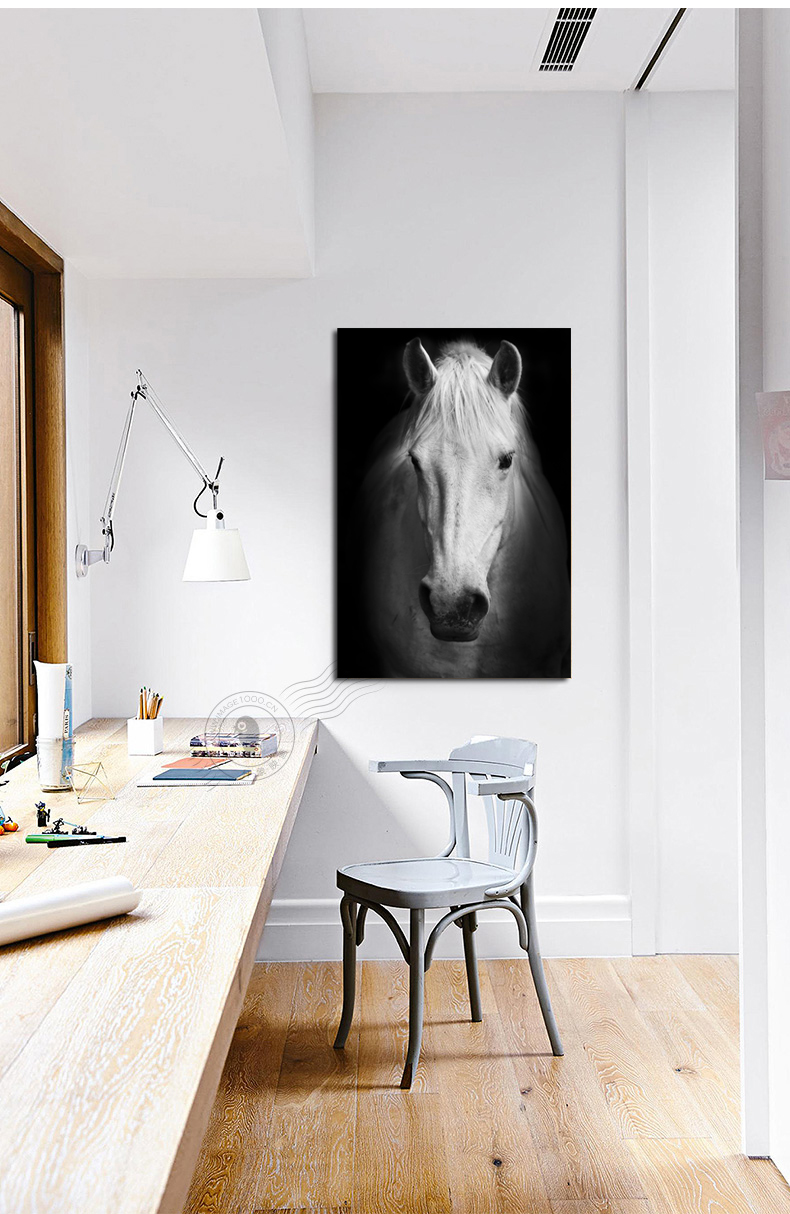 Black and white horse painting canvas prints horse face painting ...